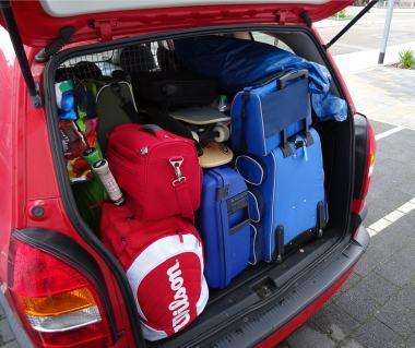 Kofferraum Auto Urlaub