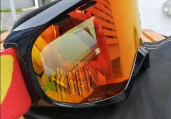 Skibrille Spiegelung